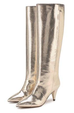 Женские кожаные сапоги laomi ISABEL MARANT золотого цвета, арт. LA0MI/BT0082-20P030S | Фото 1