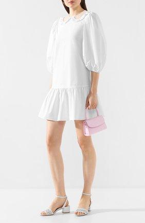 Женские кожаные босоножки AGL белого цвета, арт. D631084PCS0FTY0102 | Фото 2