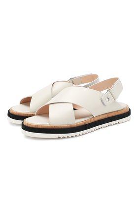 Женские кожаные сандалии AGL белого цвета, арт. D642026PHSM00T0115 | Фото 1
