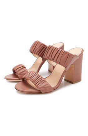 Женские кожаные мюли AGL розового цвета, арт. D654026PCS0FTY0353 | Фото 1