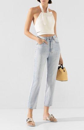 Женские кожаные шлепанцы AGL белого цвета, арт. D656018PGK6487D002 | Фото 2