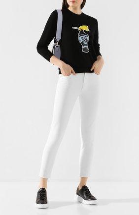 Женские кожаные кеды AGL черного цвета, арт. D938001PGKA0761758 | Фото 2