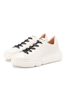 Женские кожаные кеды AGL белого цвета, арт. D938001PGKA101B286 | Фото 1