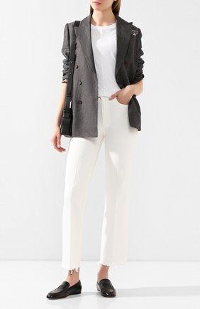 Женские кожаные лоферы TOD'S черного цвета, арт. XXW79A0C030G0C | Фото 2
