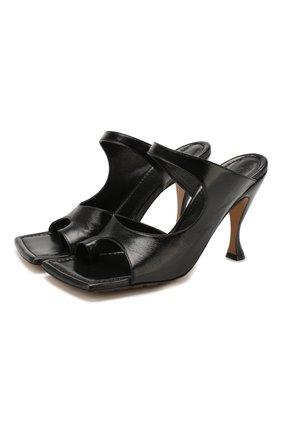 Женские кожаные мюли BOTTEGA VENETA черного цвета, арт. 610521/VBSH0 | Фото 1