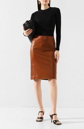 Женские кожаные мюли BOTTEGA VENETA черного цвета, арт. 610521/VBSH0 | Фото 2