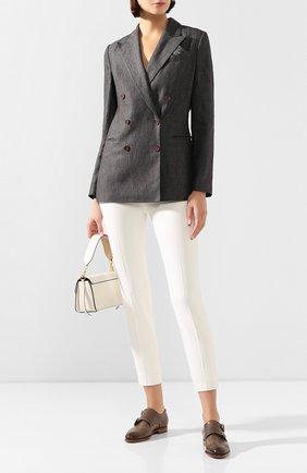 Женские кожаные монки SANTONI серого цвета, арт. WUGY56649BA1CLVVE60 | Фото 2