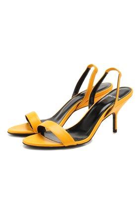 Женские кожаные босоножки gala PIERRE HARDY желтого цвета, арт. TM03/KID | Фото 1