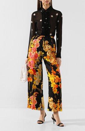 Женские кожаные босоножки gala PIERRE HARDY черного цвета, арт. TM03/LAMB   Фото 2