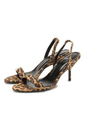 Женские кожаные босоножки gala PIERRE HARDY леопардового цвета, арт. TM03/SUEDE KID PRINT | Фото 1