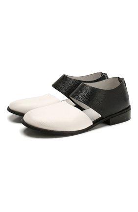 Женские кожаные туфли MARSELL черно-белого цвета, арт. MW5807/PELLE V0L0NATA | Фото 1