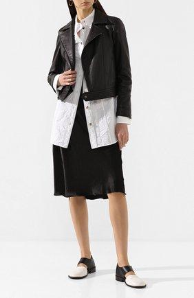 Женские кожаные туфли MARSELL черно-белого цвета, арт. MW5807/PELLE V0L0NATA | Фото 2