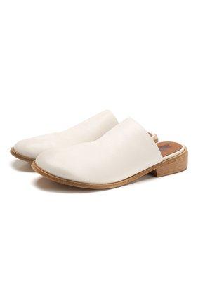 Женские кожаные сабо MARSELL белого цвета, арт. MW5811/PELLE V0L0NATA | Фото 1
