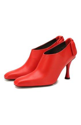Женские кожаные ботильоны bow tie PROENZA SCHOULER красного цвета, арт. PS34045A/11003 | Фото 1