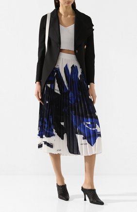 Женские кожаные мюли woven PROENZA SCHOULER черного цвета, арт. PS34046A/11071 | Фото 2