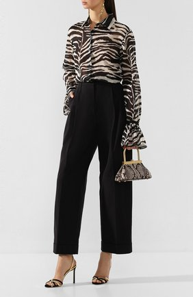Женские кожаные босоножки mimi 100 JIMMY CHOO черного цвета, арт. MIMI 100/UMN | Фото 2