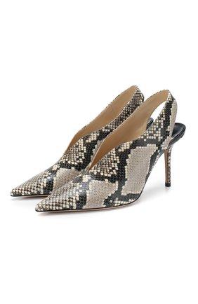 Женская кожаные туфли saise 85 JIMMY CHOO бежевого цвета, арт. SAISE 85/NKE | Фото 1