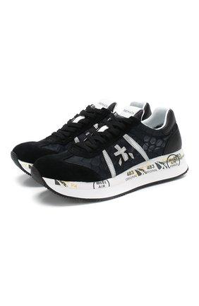 Женские комбинированные кроссовки conny PREMIATA черного цвета, арт. C0NNY/VAR4620 | Фото 1