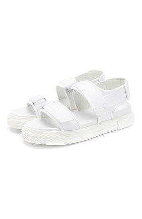 Женские текстильные сандалии blabber gummy GIUSEPPE ZANOTTI DESIGN белого цвета, арт. RS00034/003 | Фото 1