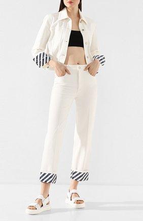 Женские текстильные сандалии blabber gummy GIUSEPPE ZANOTTI DESIGN белого цвета, арт. RS00034/003 | Фото 2
