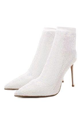 Женские текстильные ботильоны LE SILLA белого цвета, арт. 2118M090R8PPCAY | Фото 1