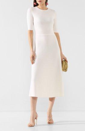 Женские кожаные босоножки LE SILLA белого цвета, арт. 8537Q100R1PPKAB | Фото 2