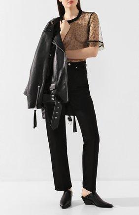 Женские кожаные мюли ANN DEMEULEMEESTER черного цвета, арт. 2013-2830-W-350-099   Фото 2