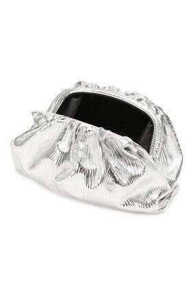 Женский клатч pouch BOTTEGA VENETA серебряного цвета, арт. 618128/VCQ60 | Фото 4 (Женское Кросс-КТ: Вечерняя сумка, Клатч-клатчи; Материал: Натуральная кожа; Размер: large)