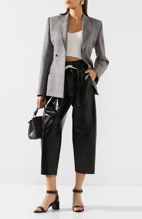 Женские кожаные босоножки elegant studs GIVENCHY черного цвета, арт. BE302LE00C   Фото 2