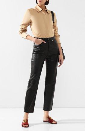 Женские кожаные шлепанцы 4g GIVENCHY красного цвета, арт. BE303AE05V   Фото 2