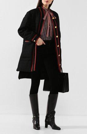 Женские кожаные сапоги eden GIVENCHY черного цвета, арт. BE7015E0LF | Фото 2