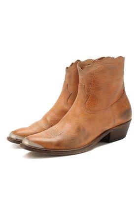 Женские кожаные ботинки young GOLDEN GOOSE DELUXE BRAND коричневого цвета, арт. G36WS274.H2 | Фото 1