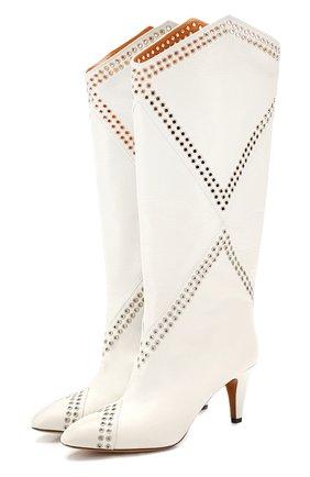 Женские кожаные сапоги lahia ISABEL MARANT белого цвета, арт. LAHIA/BT0039-20P012S | Фото 1