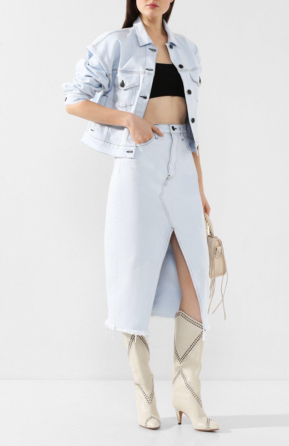 Женские кожаные сапоги lahia ISABEL MARANT белого цвета, арт. LAHIA/BT0039-20P012S | Фото 2