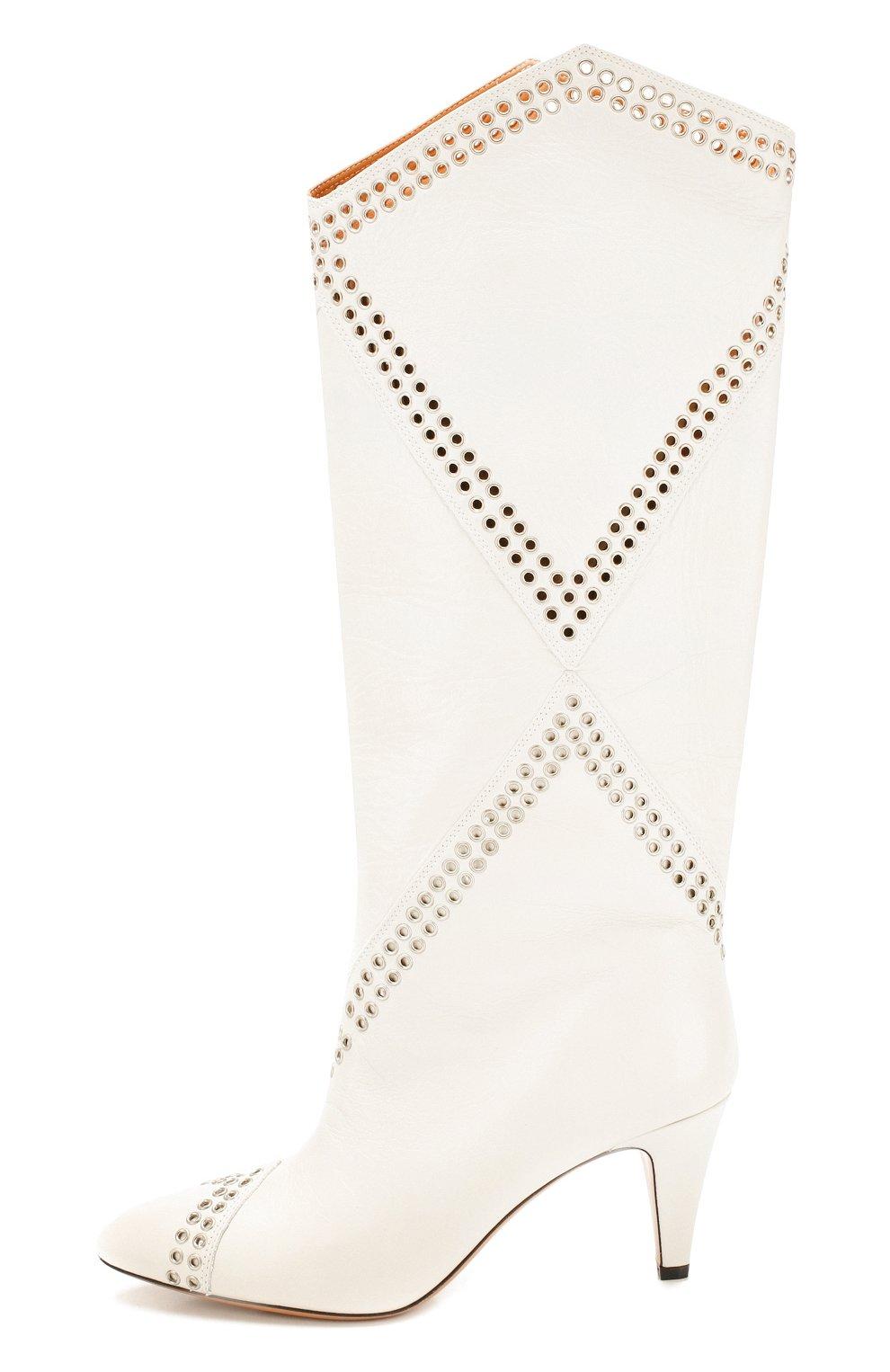 Женские кожаные сапоги lahia ISABEL MARANT белого цвета, арт. LAHIA/BT0039-20P012S | Фото 3