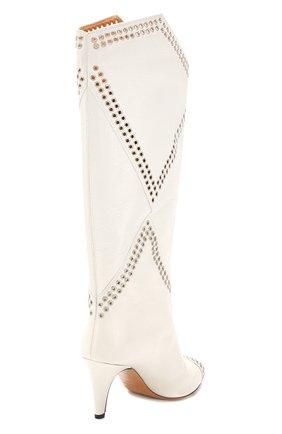 Женские кожаные сапоги lahia ISABEL MARANT белого цвета, арт. LAHIA/BT0039-20P012S | Фото 4