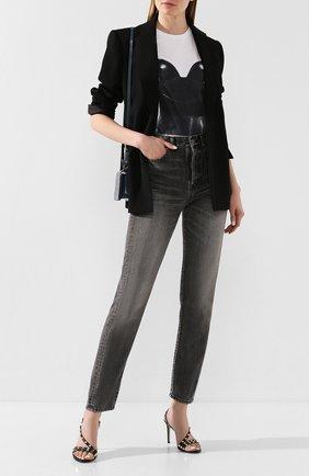 Женские кожаные босоножки valentino garavani rockstud VALENTINO черного цвета, арт. TW0S0X44/V0D   Фото 2