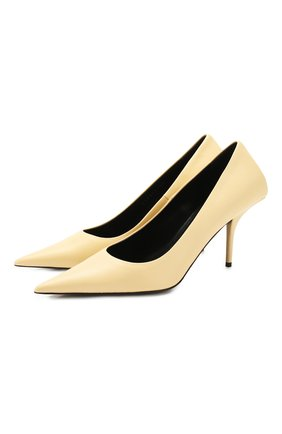 Женская кожаные туфли square knife BALENCIAGA бежевого цвета, арт. 572879/WAWN0 | Фото 1