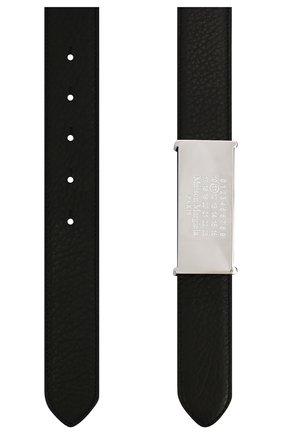 Женский двусторонний кожаный ремень MAISON MARGIELA черного цвета, арт. S56TP0125/P3172 | Фото 2