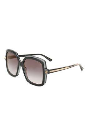Женские солнцезащитные очки CARTIER черного цвета, арт. CT0196 001 | Фото 1