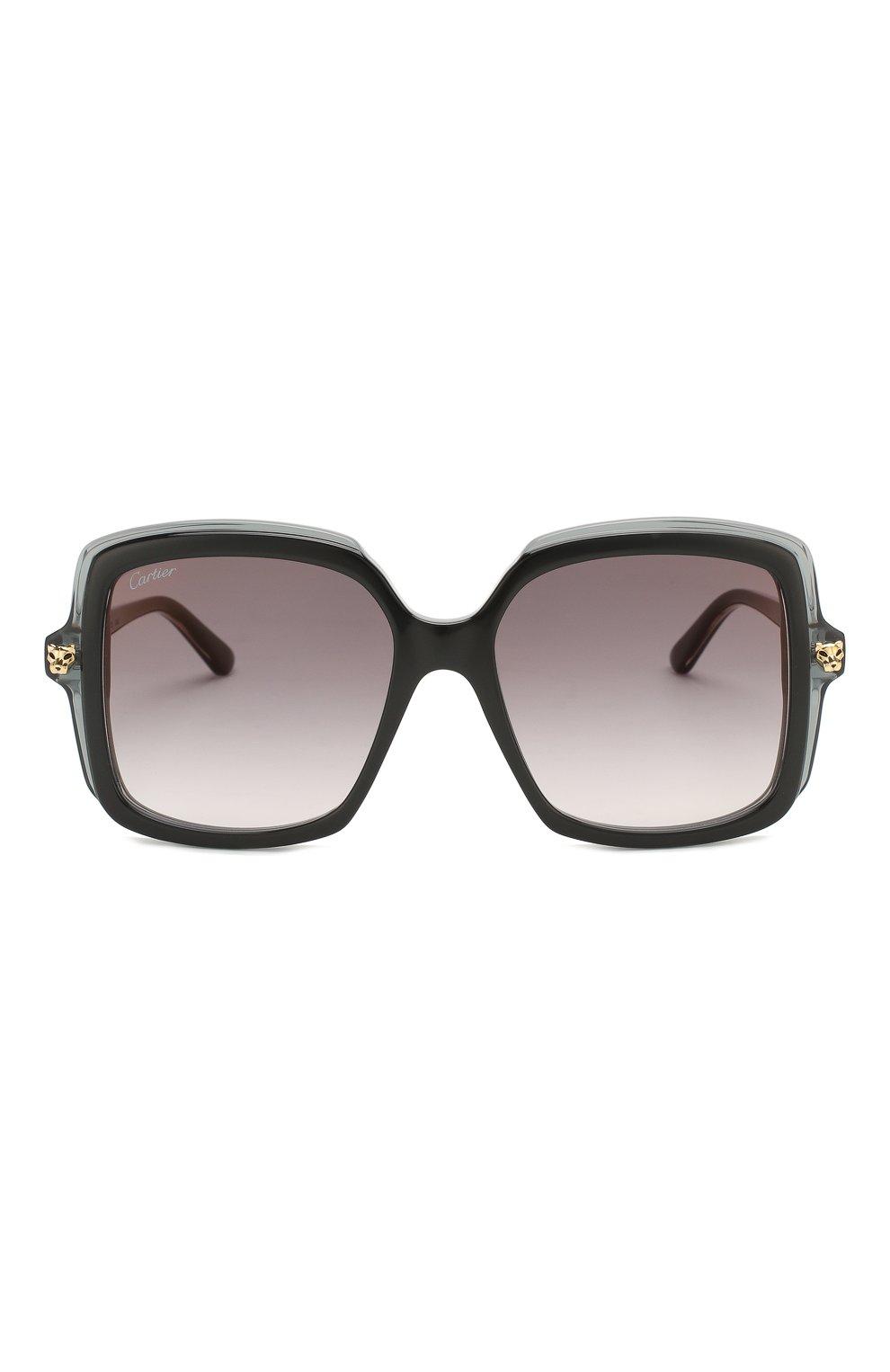 Женские солнцезащитные очки CARTIER черного цвета, арт. CT0196 001 | Фото 3