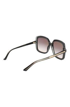 Женские солнцезащитные очки CARTIER черного цвета, арт. CT0196 001 | Фото 4