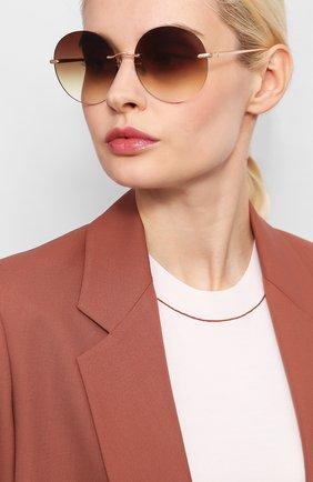 Мужские солнцезащитные очки EQUE.M золотого цвета, арт. NKNK/RG | Фото 2