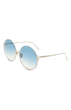 Мужские солнцезащитные очки LINDA FARROW голубого цвета, арт. LFL1006C7 SUN | Фото 1
