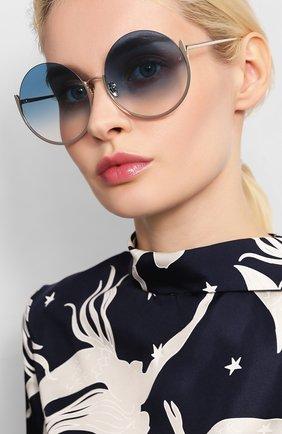 Мужские солнцезащитные очки LINDA FARROW голубого цвета, арт. LFL1006C7 SUN | Фото 2