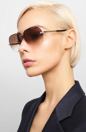 Мужские солнцезащитные очки MONTBLANC коричневого цвета, арт. MB0018 006 | Фото 2