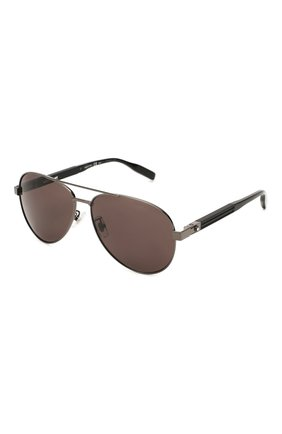 Женские солнцезащитные очки MONTBLANC черного цвета, арт. MB0032 001 | Фото 1