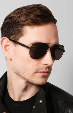 Женские солнцезащитные очки MONTBLANC черного цвета, арт. MB0032 001 | Фото 3