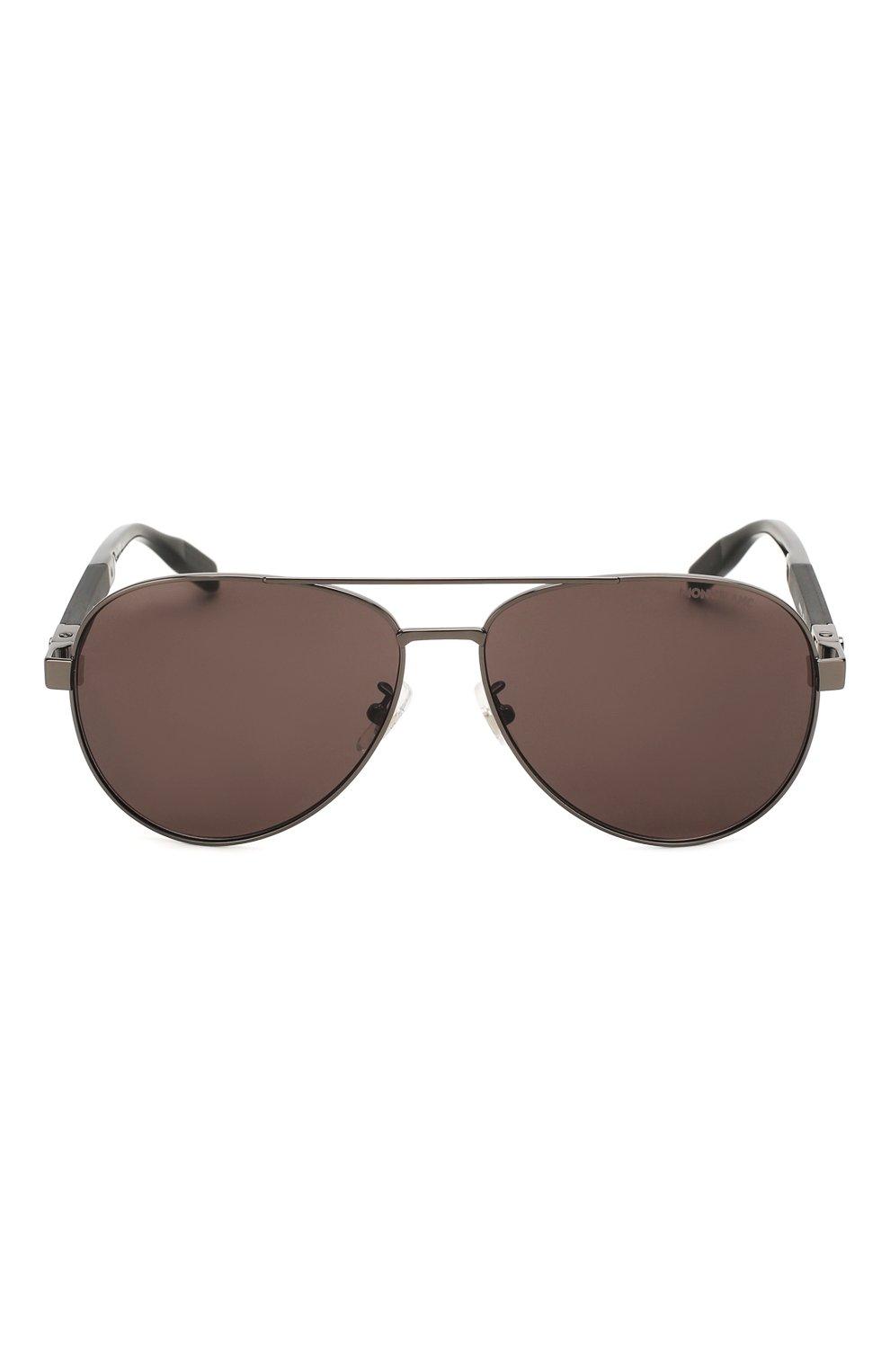 Женские солнцезащитные очки MONTBLANC черного цвета, арт. MB0032 001 | Фото 4