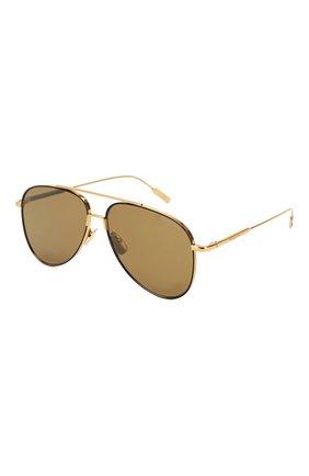 Мужские солнцезащитные очки MONTBLANC золотого цвета, арт. MB0078 001 | Фото 1